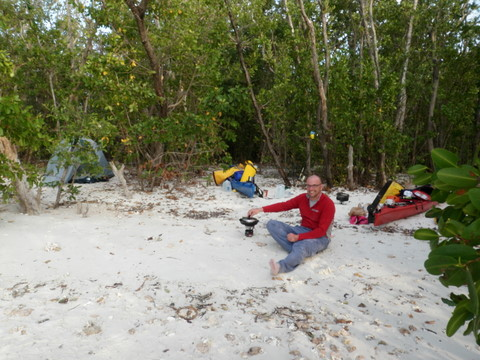 Cooking and camping, near Mormon Key