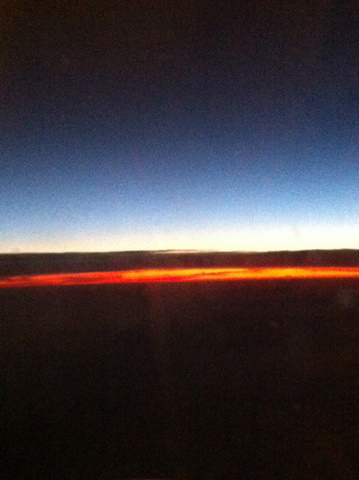 Sunset, on our way to Ireland