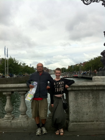 Isabelle and I in Dublin, Liffey River