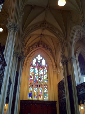 Stained glass at the Chapel Royal in Dublin