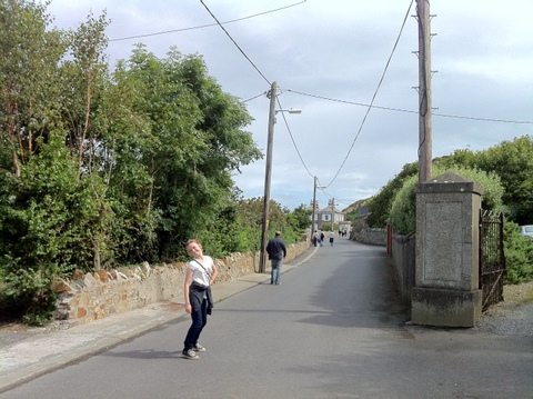 Isabelle, my dear daughter and I, in Howth