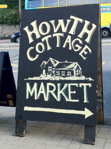 Sign for Howth Cottage Market
