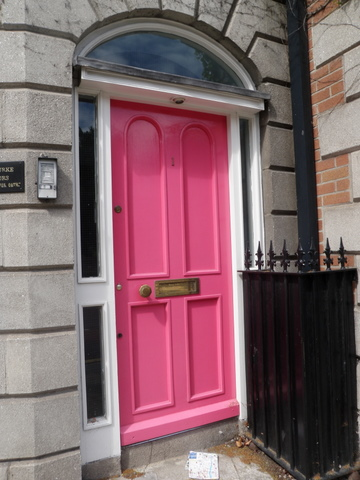 Colorful doors, pink door in Dublin