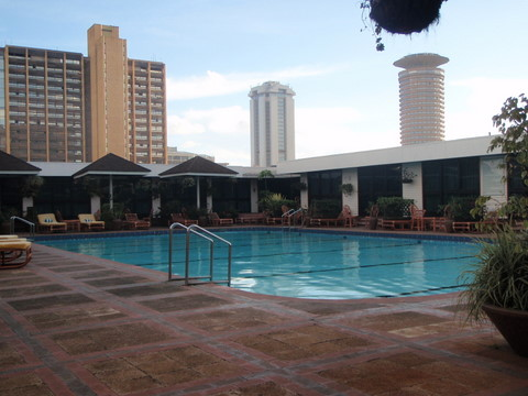 Swimming pool of the Hilton Hotel in Nairobi