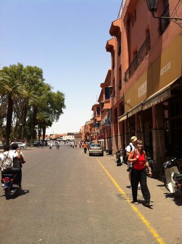 Street near the Jemnaa El Fna place