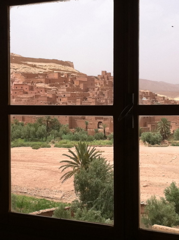 Ait Benhaddou seen from our hotel Chez Brahim