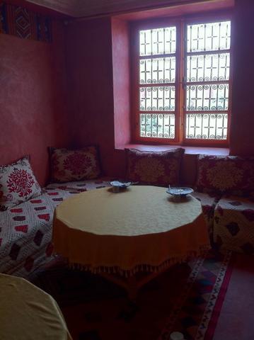 The indoor dinning restaurant for warm days