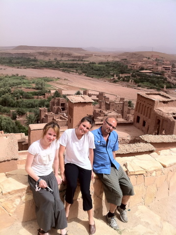 Family picture in the ancient fortress