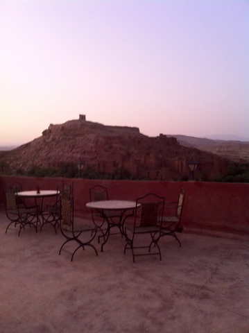 On the terrasse of Chez Brahim we had supper