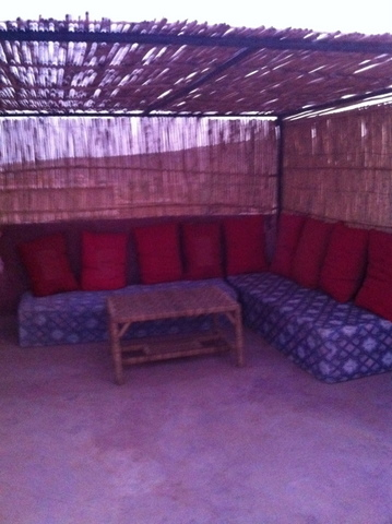 Comfortable sofas with a Berber style