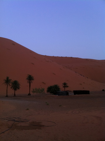 Silent Night coming in the Sahara desert