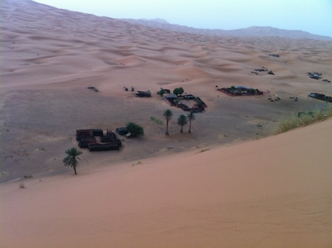 Private oasis near the Hotel du Sud near Merzouga<