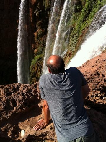 Myself on top of the falls a 110 meters drop