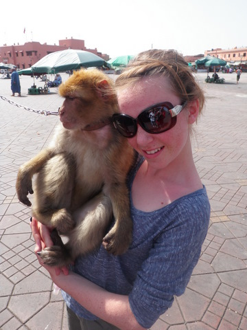 Isabelle with a Barbarie Monkey