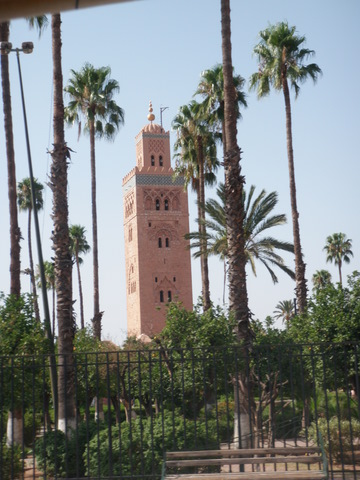 The Koutoubia Mosque and his Mineret also called the Bookseller's Mosque