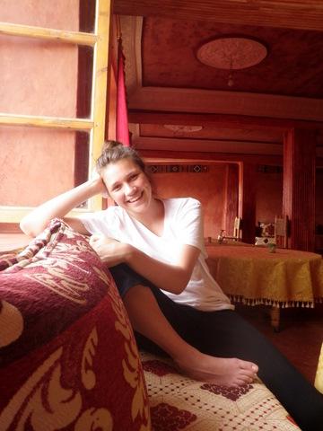 Nadia all smiles at Chez Brahim