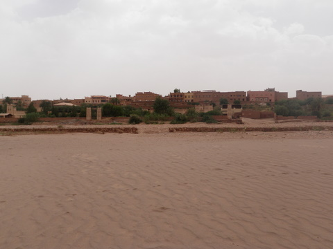The new modern town section of Ait BenHaddou