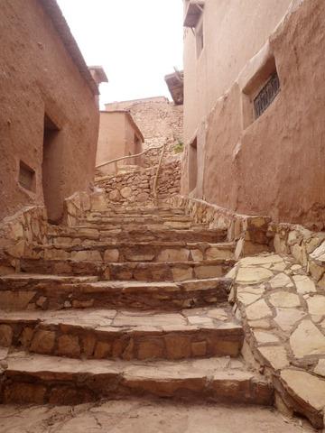 A cool street of the  ksar of Ait Benhaddou