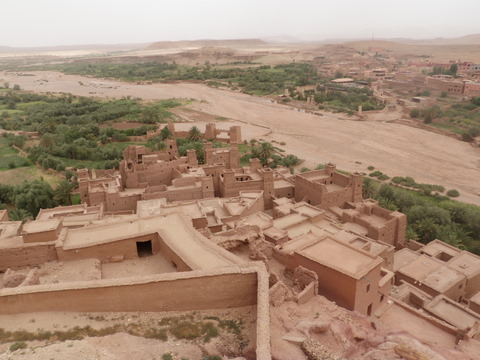 View of the Kasbah from far above