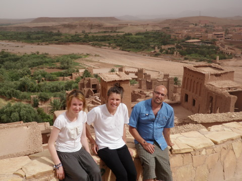 In Ait Benhaddou looking downwards