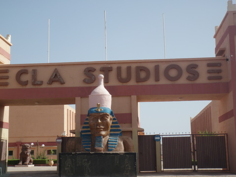Entrance of the Cla Movie Studios, the Atlas Studios in Ouazazarte