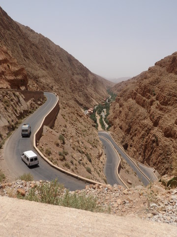 The road in the Dades Valley, very spectacular...scary too