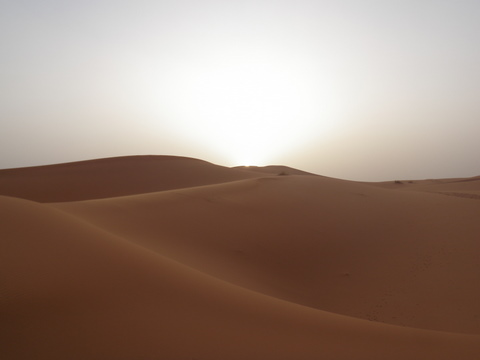 The desert near Merzouga averages 115 farhenheit in the summer, not very pleasant