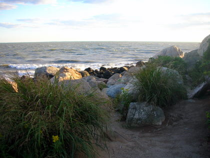 Boulders and the sea at Meigs Point