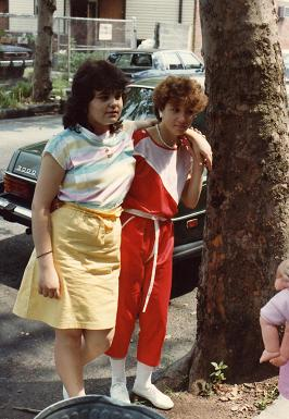 Gina Costa and Ginette Candido, Somme street, NJ