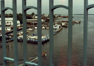 Sandy Hook Marina seen from the bridge