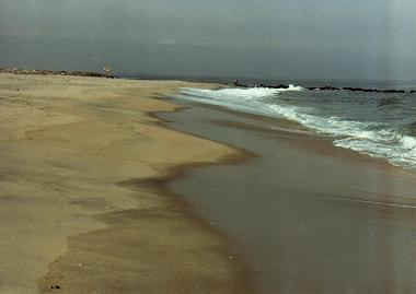 Beautiful beaches in Sandy Hook, New Jersey
