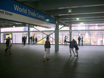 The girls at the World Trade Center Metro Station