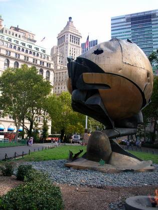 World Trade Center Globe, 911 memorial