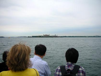 Ellis Island seen from far away