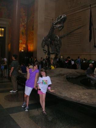 The dinosaurs at the American Museum of Natural History in New York City.
