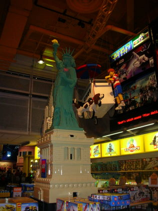 Statue of Liberty made of Lego