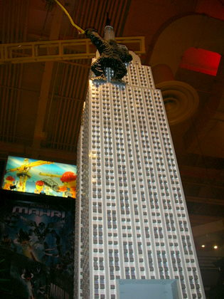 King Kong climbing the Empire State building