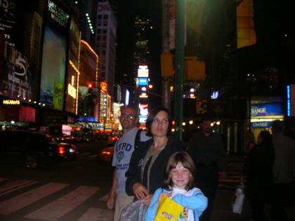 The Candido family in Time Square