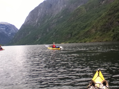 The peaceful Naeroyfjord