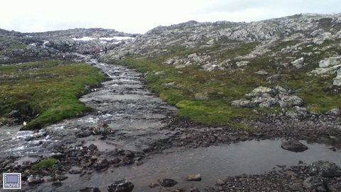 Creek on the summit of the fjord