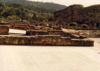 The ruins of Conimbriga