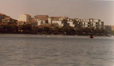 From the boat, the Barrinha de Mira