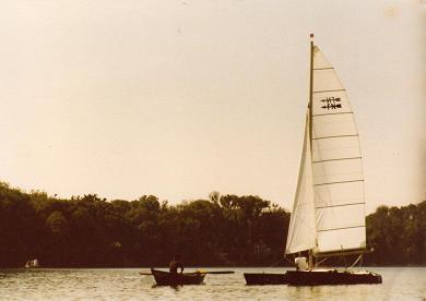 Sailing boat in Mira