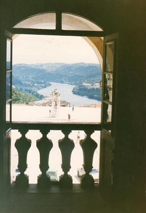 Mondego river seen from the University of Coimbra