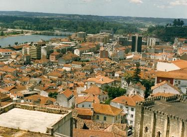 From the University, view of Coimbra