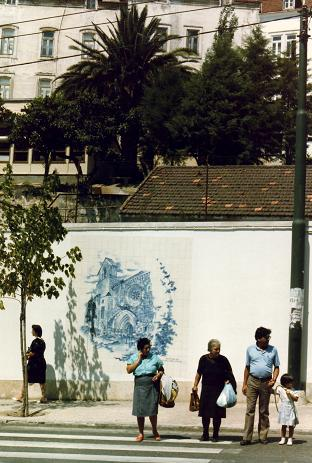 The famous azulejos (blue tiles) of Portugal, Coimbra