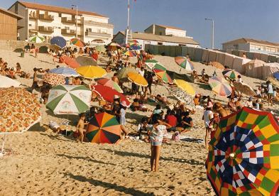 Beautiful, colorful parasols in Mira
