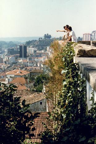 Our guide Reinaldo showing us Coimbra
