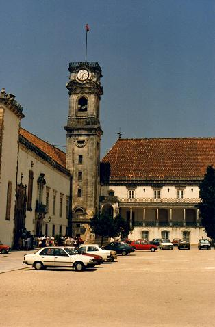 The tower of the University of Coimbra