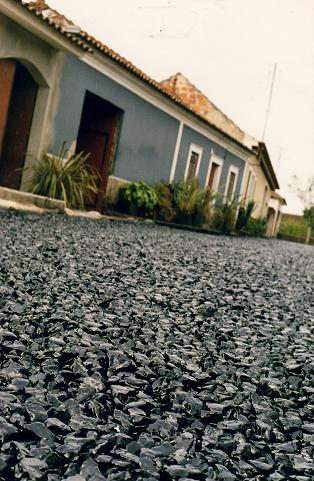 The pavement in front of the house of  Tio Pedro